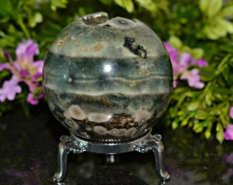 Natural Ocean Jasper Sphere, 63 MM