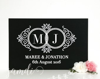 Monogram Wedding sign/ wedding chalkboard/ chalkboard sign/ home decor/ Samdi (2)