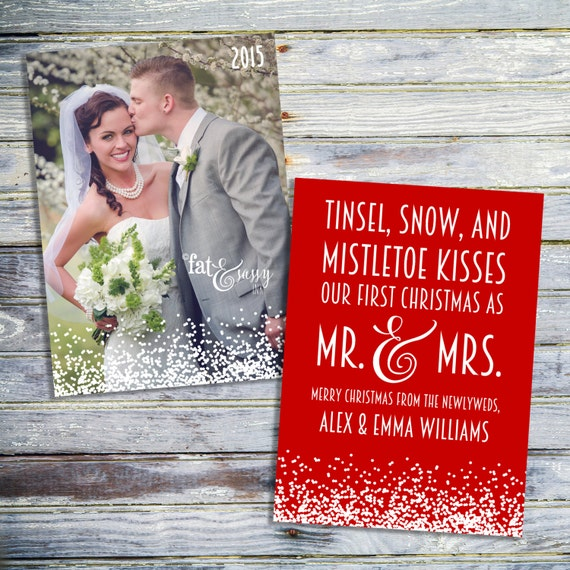 Our First Christmas As Mr. And Mrs. Card Just By