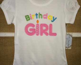 Birthday Girl Appliqued T-Shirt