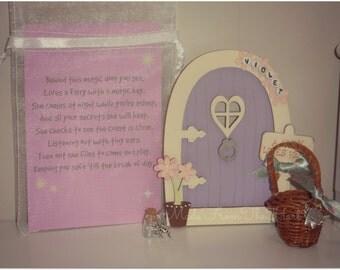 Wooden Fairy Door Gift Set