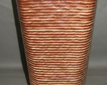 Vintage Brown Pottery Vase - Shawnee Pottery Vase -  USA Art Pottery Vase  #879
