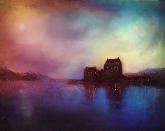 Eilean Donan Castle Dusk - Scottish Art Painting Prints Gifts Made In Scotland