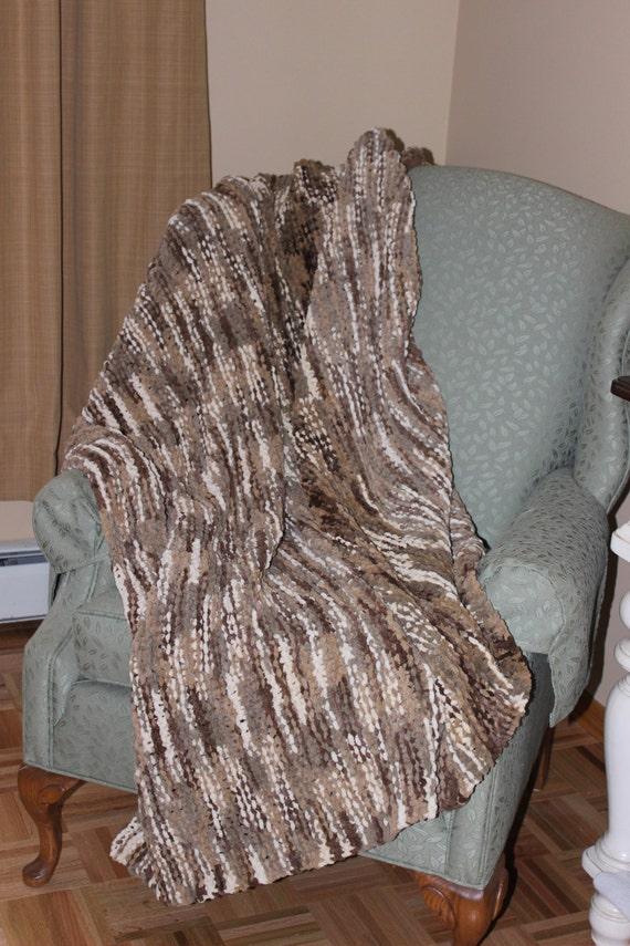 Bulky Knit Afghan Patterns : Afghan Blanket Hand Knit Afghan Hand Knit Super Bulky