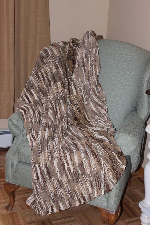 Afghan Blanket Hand Knit Afghan Hand Knit Super Bulky