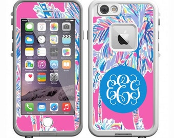 Monogrammed Lilly Pulitzer LifeProof Case Skin | LifeProof Decal | iPhone 7, iPhone 7 Plus, iPhone 6 Plus, iPhone 6, iPhone 5s, iPhone 5c