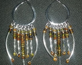 Amber jewel earrings
