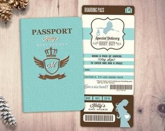 Jungle passport invitation etsy passport and ticket baby shower invitation coed baby shower invitation travel baby shower invitation filmwisefo