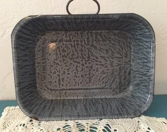 Gray Granite Enamelware Pan