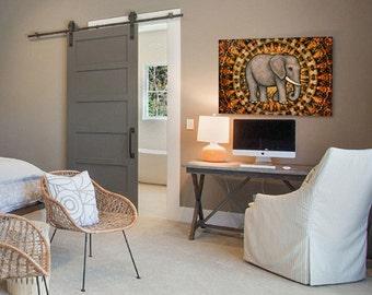 "Spirit Elephant Tapestry Wall Hanging 28""x42"" by Artist Dan Morris"