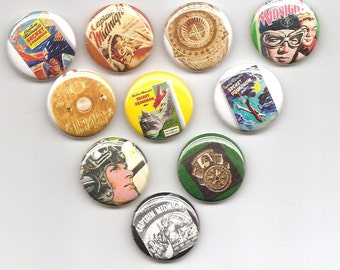 Captain Midnight Set of 10 Pins Button Badge Pinback