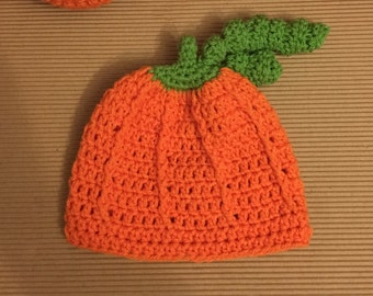 Littlebits Newborn Baby Crocheted Halloween Pumpkin Beanie -  Handcrafted in Australia RTS