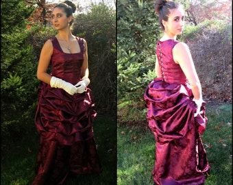 Victorian Ball Gown; 19th Century Gown; Queen Victoria Costume; Purple Ballgown; Steampunk Gown; Interview with the Vampire Gown