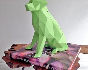 Labrador Dog - 3D Papercraft Template