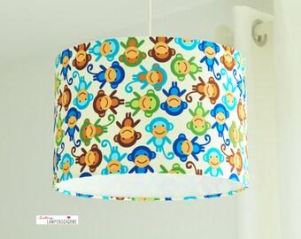 Lampshade, lamp children, monkeys