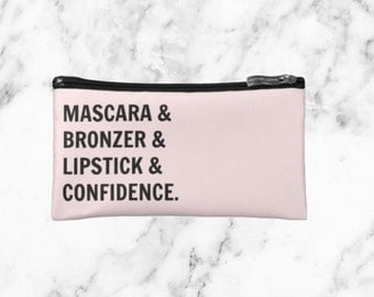 Mascara Bronzer Lipstick & Confidence Makeup Bag