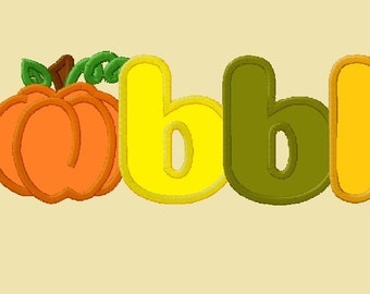 Gobble Pumpkin Applique