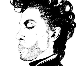 8.5x11 Prince Illustration Portrait