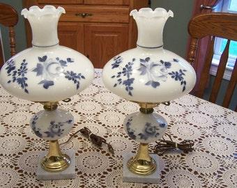 Handpainted Hurricane Lamps