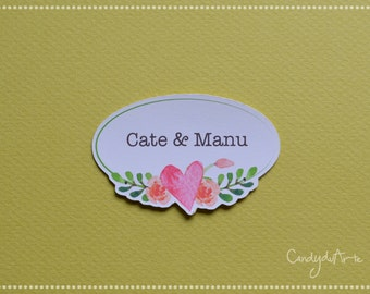 Stickers for personalized favors. Sticker wedding-christening