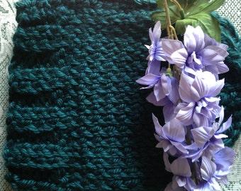 Heavy Dark Blue Knitted Hat