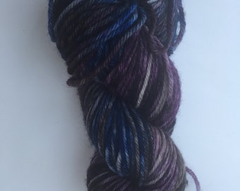 """Hand Dyed Yarn """"The Sky At Night"""""""