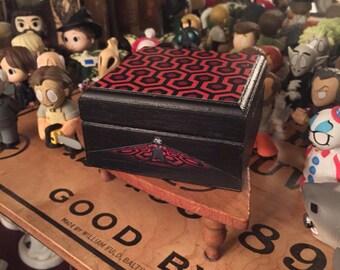 Wood keepsake box, The Shining carpet, Halloween decor, Jewelry box