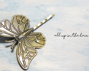 Butterfly Bobby Pin - Large Butterfly Bobby Pins - Butterfly Hair Pins - Large Bobby Pins - Large Hair Pins - Insect Bobby Pins - Insects