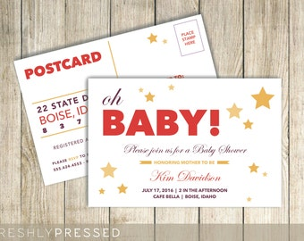 Oh Baby! Custom Postcard Invitation