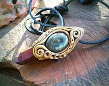 karmic ties Tiatnium aura and Labradorite healing clay FREE SHIPPING