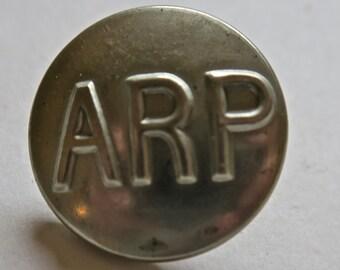 Air Raid Precautions Uniform Button