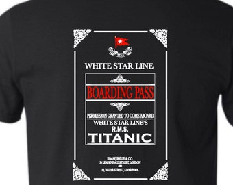 Titanic Boarding Pass T Shirt