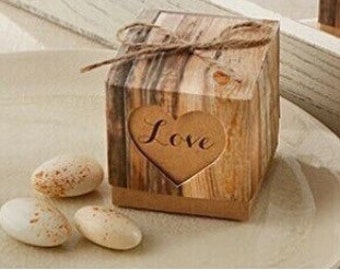 Rustic Wedding Favor Boxes - Love Favor Boxes