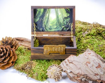 Fantasy Hobbit Box + Ring The Lord of the Rings - Glow in the dark / box fantasy of the Hobbit + ring Lord of the rings