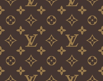 Designer Logo inspired frosting sheet/ sugar sheet- LV Louis Vuitton