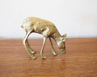 Vintage Brass Fawn or Deer Figurine