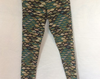 Medium green and blue leggings