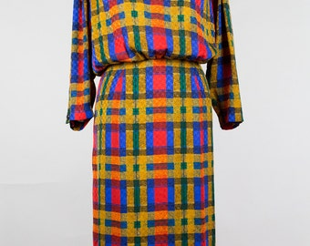 Vintage Dress // Checkered