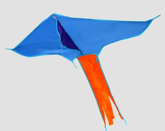 """Dragon """"Arrow"""", classically a flax-, fiberglass rods, different colors, suitable for children, very good flight characteristics"""