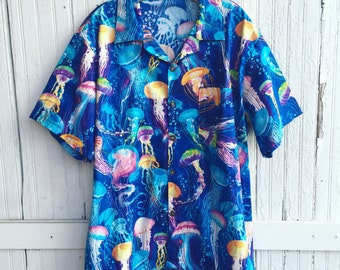 Jellyfish In My Head Button Up