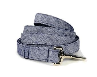 Navy Washed Linen Dog Leash, Navy Linen Dog Leash, Linen Dog Leash, Preppy Dog Leash, Navy Dog Leash, Dog Lead, Linen Leash