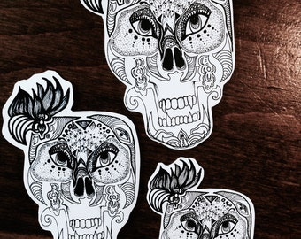 Stickers // Sugar Scull Day Of the Dead Tattoo