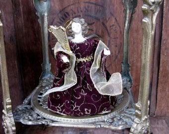 Christmas Angel - Angel Decoration - Angel Tree Topper - 1970s Christmas - Vintage Christmas - Red Angel - Poseable Angel - Angel Decor