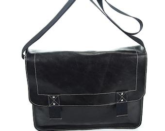 Junior messenger bag, leather handmade bag