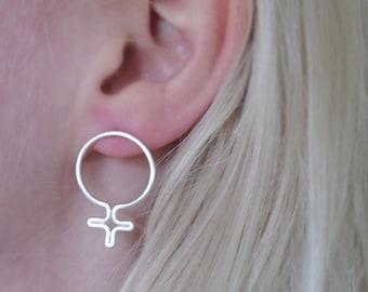 Feminist symbol earring