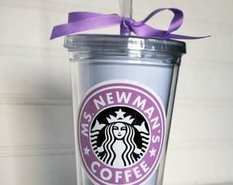 Personalized Tumbler Cup Moms Teachers