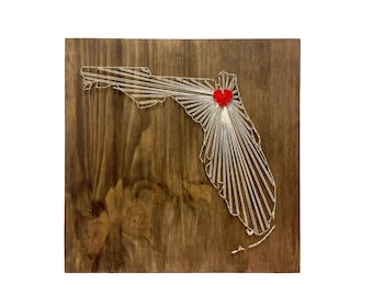 Florida Any State String Art Florida Wall Art Home Decor