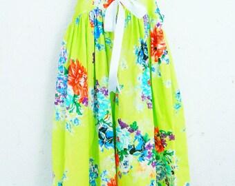 Girls Cotton Floral Print Dress Summer Dress Beach Dress Sun Dress size 1T, 2T, 4T, 6T 8 & 10