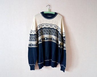 Vintage 80s sweater / made in Italy / large size