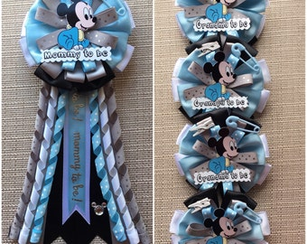 Baby Mickey Mouse Inspired - Baby Shower Corsage